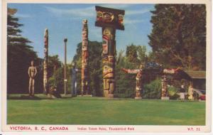 INDIAN TOTEM POLES THUNDERBIRD PARK, VICTORIA BC