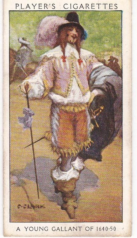 Cigarette Card Player's Dandies No 10 A Young Gallant of 1640-50