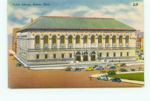 Old Vintage Postcards Public Library  Boston Mass # 2380A
