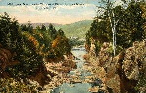 VT - Montpelier. Winooski River, Middlesex Narrows