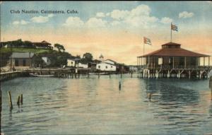Caimanera Cuba Club Nautico c1920 Used Postcard