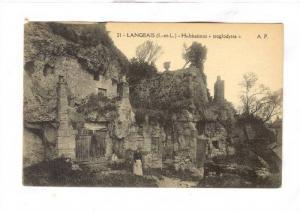 Habitations Troglodytes, Langeais (Indre-et-Loire), France, 1900-1910s