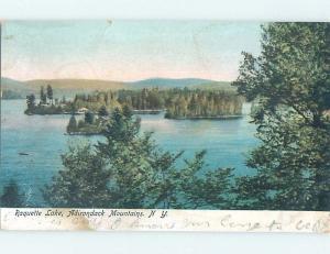 Pre-1907 LAKE SCENE Adirondacks - Raquette Lake - Long Lake New York NY F4230