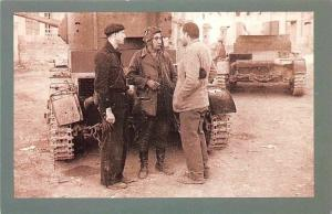Nostalgia Reprint: Spanish Civil War c. 1937 writer Ernest Hemingway, T. 26 tank