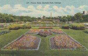 CHICAGO, Illinois, 1930-40s; Flower Beds, Garfield Park