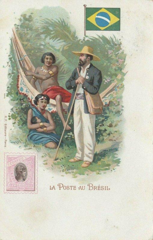 La Poste au BRESIL , 1902