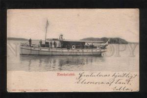 067642 FINLAND Ruokolahti steamship Vintage PC