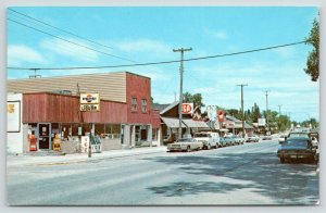 Indian River MI~Main Street~Diary Mart Ice Cream Cone~Liquor Store~Pepsi~1960s