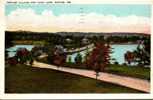 Maine Naples Village and Long Lake 1930