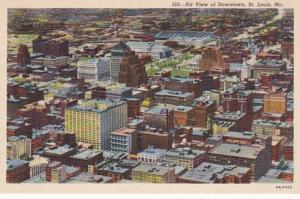 Missouri St Louis Aerial View Of Downtown Curteich