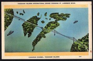Ontario Thousand Islands International Bridge crossing St. Lawrence River WB
