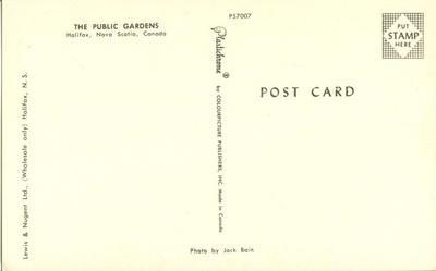 Canada, The Public Gardens, Halifax, Nova Scotia, unused ...