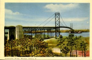 Canada - ON, Windsor. Ambassador Bridge