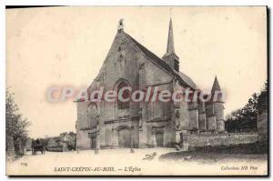 Postcard Old Saint-Cr?pin-aux-Bois Church