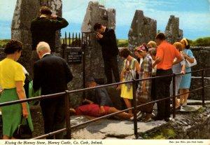 Cork, Ireland - Kissing the Blarney Stone at Blarney Castle -1960s - Large Size