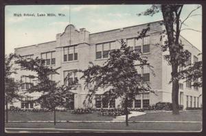 High School,Lake Mills,WI Postcard