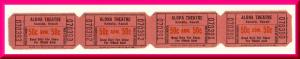 Vintage Aloha Movie Theatre Tickets, Kainaliu, Hawaii/HI, Classic Hawaiiana