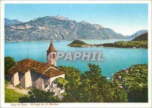 Postcard Modern Lake Como Bellagio da S Martino