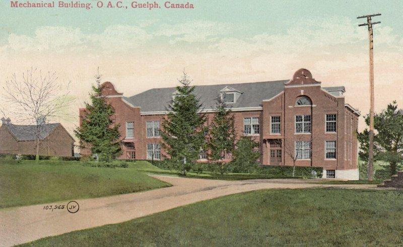 GUELPH, Ontario, Canada, 1900-1910's; Mechanical Building, O.A.C.