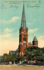 c1910 Postcard; 5th & Scott Street Episcopal Church, Little Rock AR Unposted