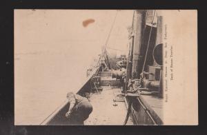 GB Postcard Royal Mission To Deep Sea Fishermen - Deck Of A Steam Trawler