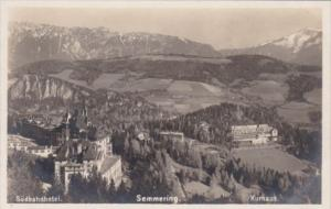 Austria Semmering Suedbahn Hotel & Kurhaus Real Photo