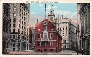 Old State House, Boston, Massachusetts, Early Postcard, Unused