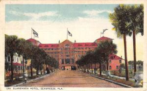 Seabreeze Florida Clarendon Hotel Street View Antique Postcard K47630