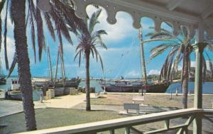 ST. CROIX , V.I., 40-60s; View of Waterfront from the Bandstand at Cristiansted