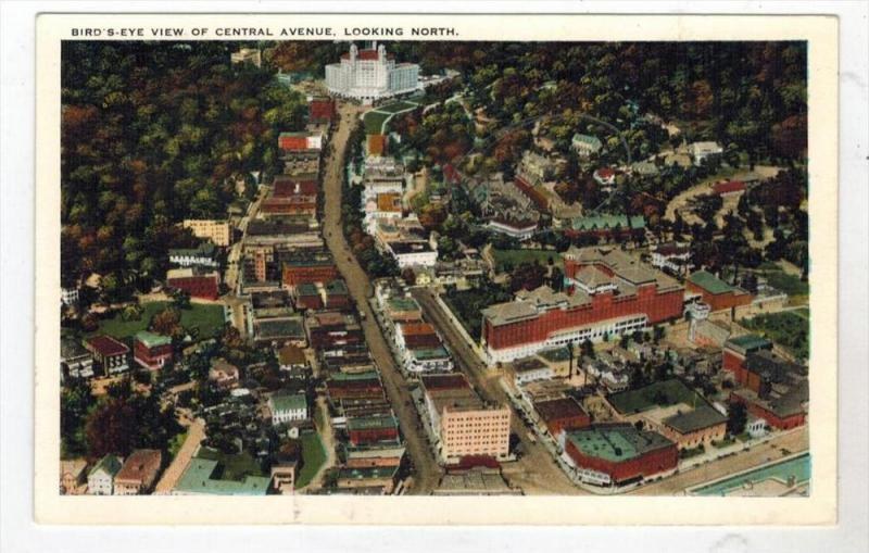 2194  AR  Hot Springs 1920's  Aerial View of CENTRAL AVE