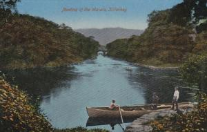 KILLARNEY, Ireland, 1900-1910's; Meeting Of The Waters, Men On A Row Boat