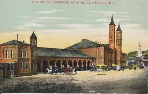 PROVIDENCE Rhode Island - OLD UNION PASSENGER STATION / Burned down 1896