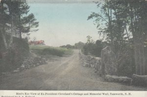 TAMWORTH, NH, 00-10s; Bird's Eye View of Ex-President Cleveland's Cottage & Memo