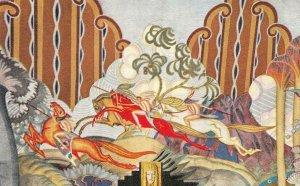 CATALINA ISLAND CASINO Theater Mural Art Deco California Vintage Postcard