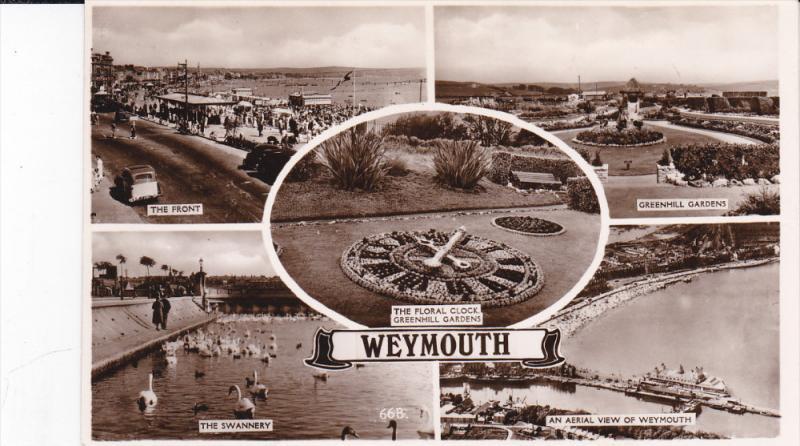 RP: WEYMOUTH , Dorset , England , 20-40s ; 5-view postcard