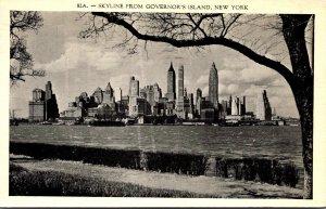 New York City Manhattan Skyline From Governor's Island 1938