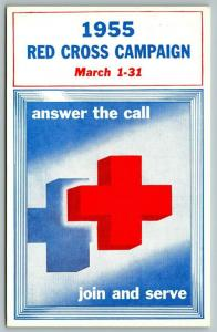 Red Cross~Answer the Call~Chicago Milwaukee St Paul & Pacific Railroad~1955 PC