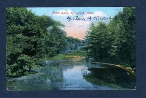 MA Mirror Lake SPRINGFIELD MASS UDB Postcard 1908