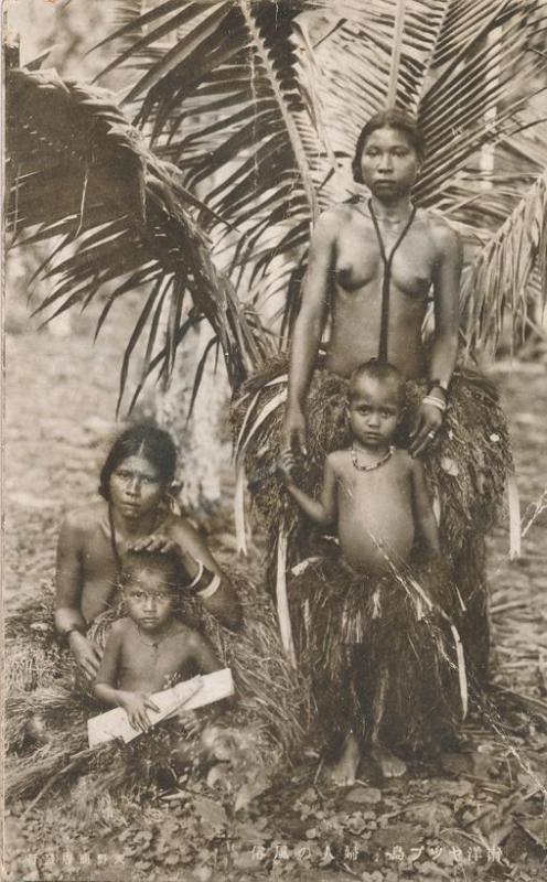 RPPC People of Yap Western Caoline Islands during Japanese Era