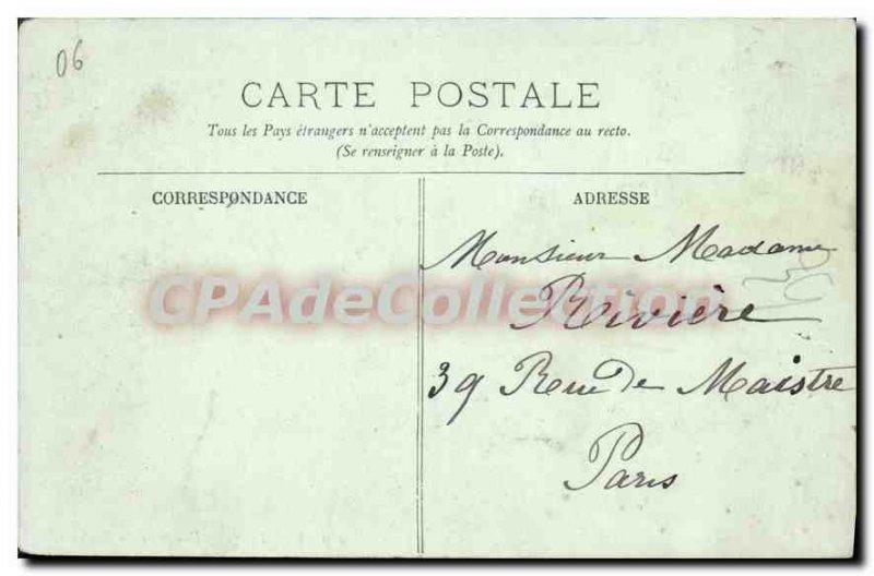 Old Postcard Menton Vue Prize Du Boulevard