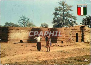 Modern Postcard Ivory Coast Village Lobi Soukhala