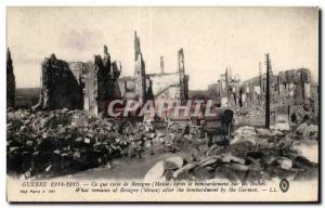 Old Postcard War that remains of Revigny (Meuse) after the bombardment by the...