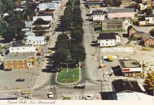 Canada Aerial View Broadway Street Business Area Grand Falls New Brunswick