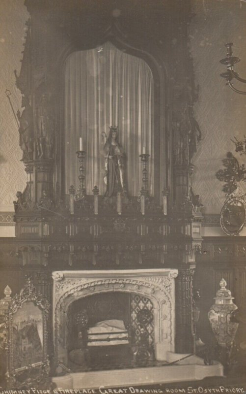RP: St Osyth , Essex , England ,1915 ; Priory , Great Drawing Room