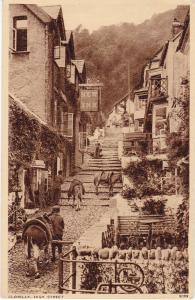 Post Card Devon Clovelly High Street Photochrom 1959