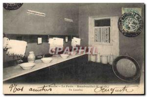 Old Postcard Children La Ruche Le Patis Rambouillet A washbasins