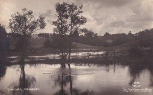 Ranneslov Lake Smedjean Antique Swedish Postcard
