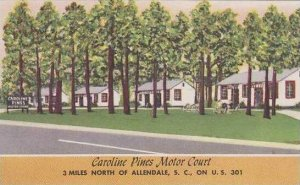 South Carolina Allendale Carolina Pines Motor Court