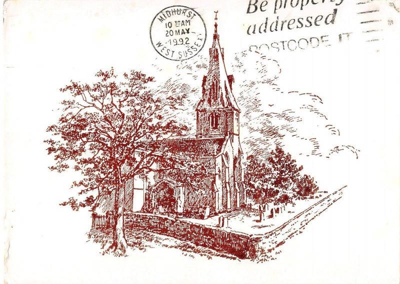 BR89268 polebrook church postcard  uk
