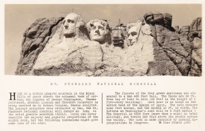 South Dakota Mount Rushmore Real Photo